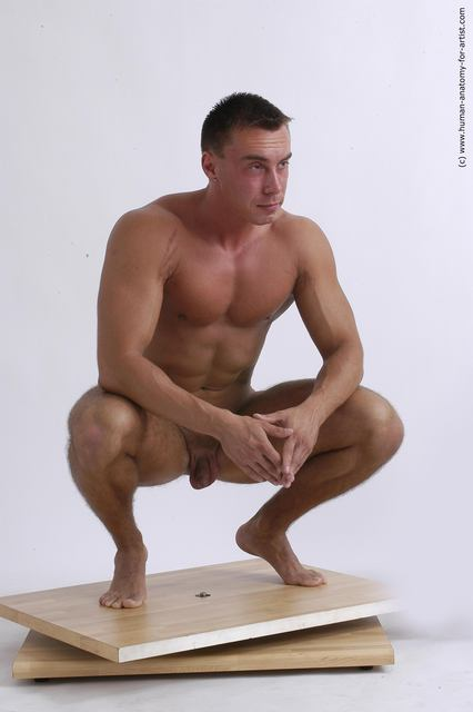short muscular naked men