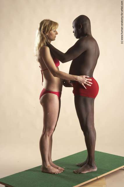 Underwear Woman - Man Black Standing poses - ALL Average Bald Standing poses - simple
