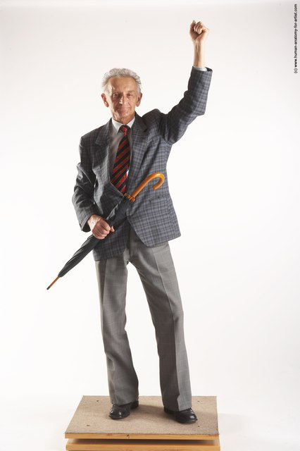 and more Business Man White Standing poses - ALL Slim Bald Grey Standing poses - simple