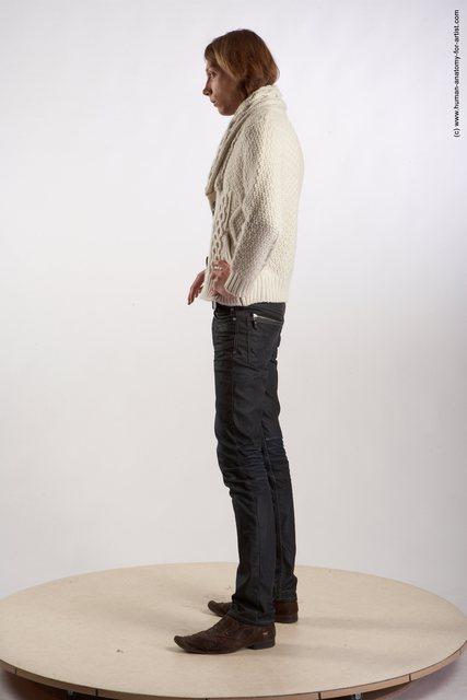 Casual Man White Perspective distortion Underweight Medium Brown