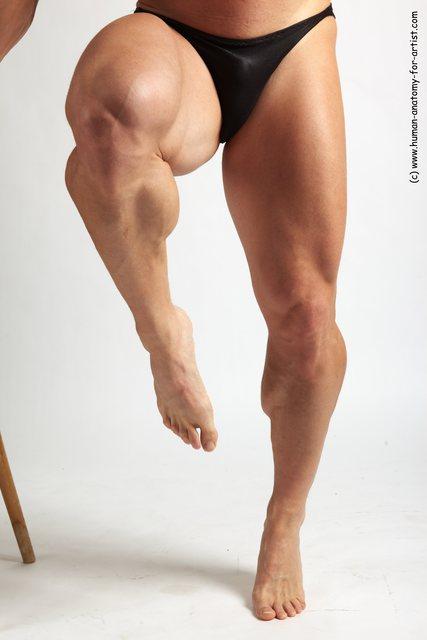 Swimsuit Man White Detailed photos Muscular Short Blond
