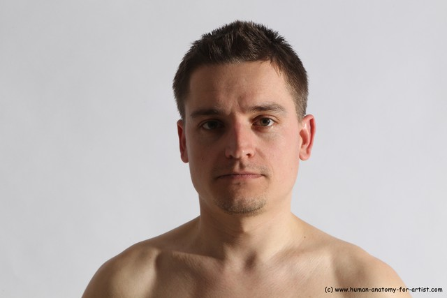 Underwear Man White Detailed photos Athletic Short Brown