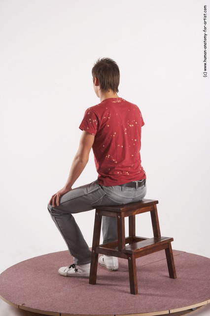 Casual Man White Standing poses - ALL Slim Short Brown Standing poses - simple