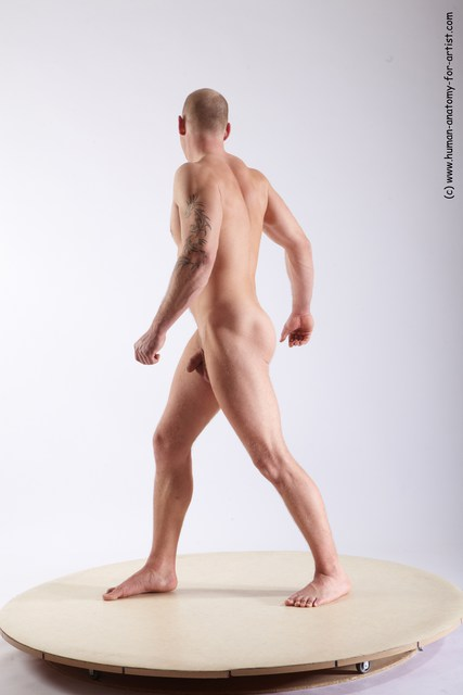 Nude Man White Standing poses - ALL Athletic Short Brown Standing poses - simple