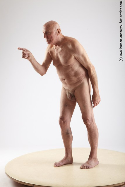 and more Nude Man White Standing poses - ALL Slim Bald Grey Standing poses - simple