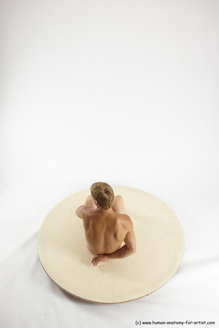 Nude Man White Sitting poses - simple Athletic Short Brown Sitting poses - ALL Multi angles poses