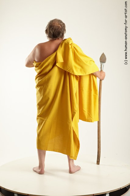 Photo of Drape Man White Standing poses - ALL Overweight Short Grey Standing poses - simple