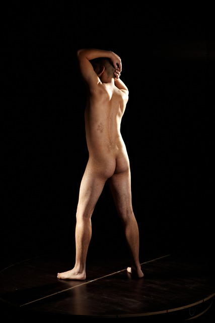 Photo of Nude Man Another Standing poses - ALL Average Short Brown Standing poses - simple