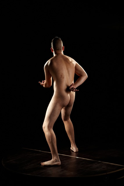 Nude Man Another Standing poses - ALL Average Short Brown Standing poses - simple