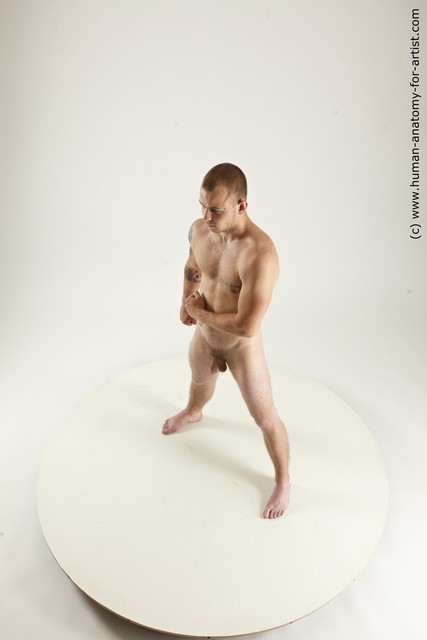 Photo of Nude Man White Standing poses - ALL Muscular Bald Standing poses - simple