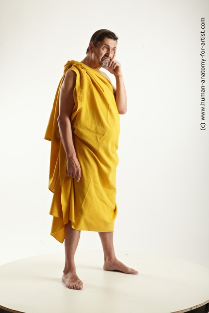 Drape Man White Standing poses - ALL Average Short Brown Standing poses - simple