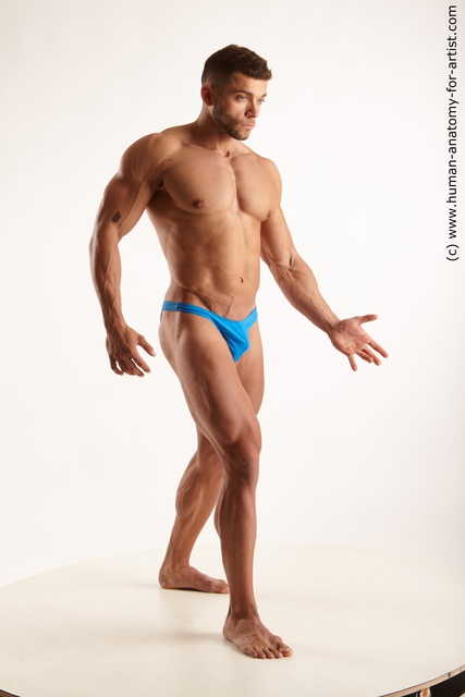 Underwear Man White Standing poses - ALL Muscular Medium Black Standing poses - simple