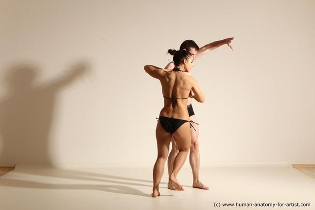 Underwear Woman - Man Athletic Dancing Dynamic poses