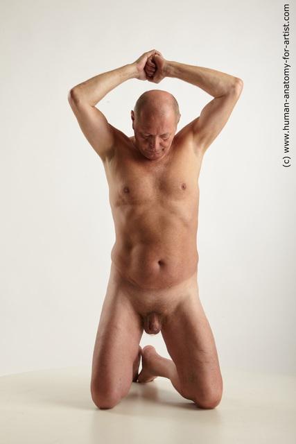 Nude Man White Average Bald Grey Standard Photoshoot