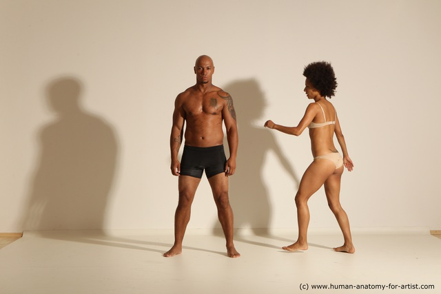 Underwear Woman - Man Another Athletic Black Dancing Dreadlocks Dynamic poses
