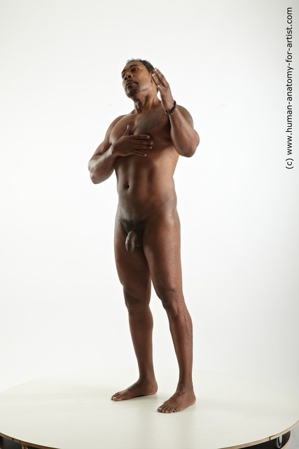 Nude Man Black Standing poses - ALL Average Short Black Standing poses - simple Standard Photoshoot