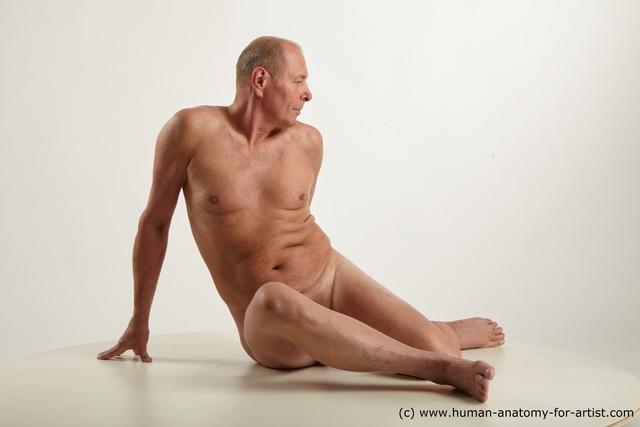 Nude Man White Chubby Short Grey Standard Photoshoot