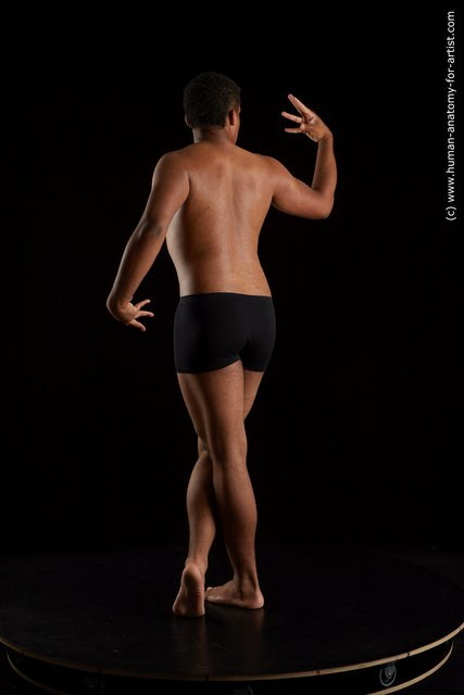Underwear Man Black Standing poses - ALL Average Short Black Standing poses - simple Standard Photoshoot