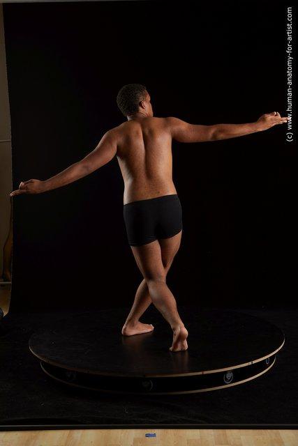 Underwear Man Black Standing poses - ALL Average Short Black Standing poses - simple Standard Photoshoot