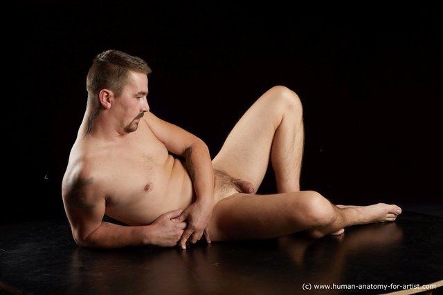 Nude Man White Average Short Brown Standard Photoshoot