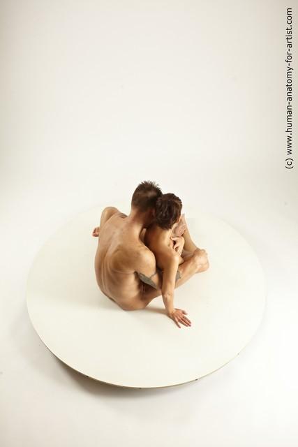 Nude Woman - Man White Slim Brown Multi angles poses