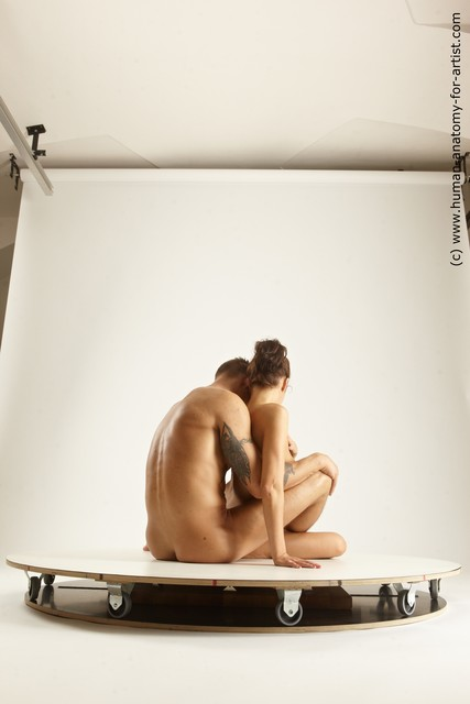 Nude Woman - Man White Slim Brown Multi angles poses
