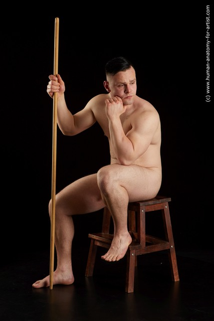 Nude Man White Sitting poses - simple Chubby Short Brown Sitting poses - ALL Standard Photoshoot