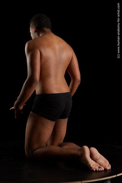 Underwear Man Black Average Short Black Standard Photoshoot