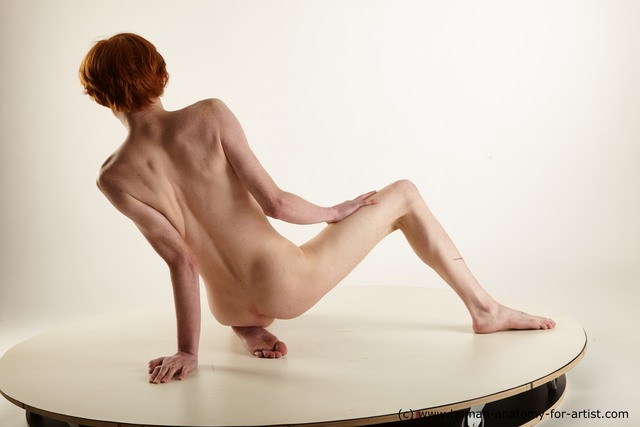 Nude Man White Sitting poses - simple Slim Medium Red Sitting poses - ALL Standard Photoshoot