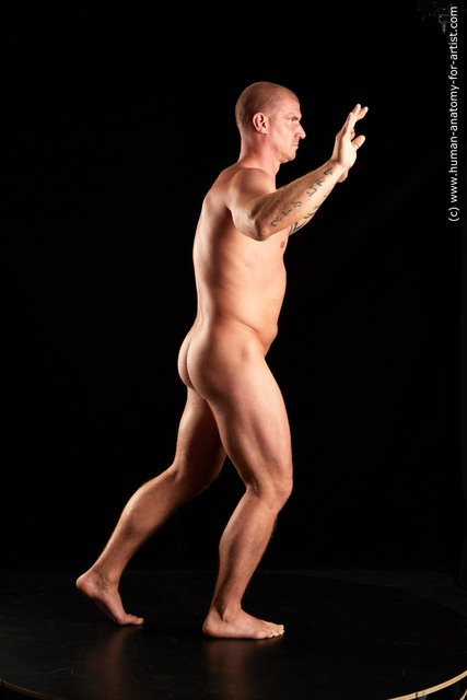 Nude Man White Standing poses - ALL Average Bald Standing poses - simple Standard Photoshoot