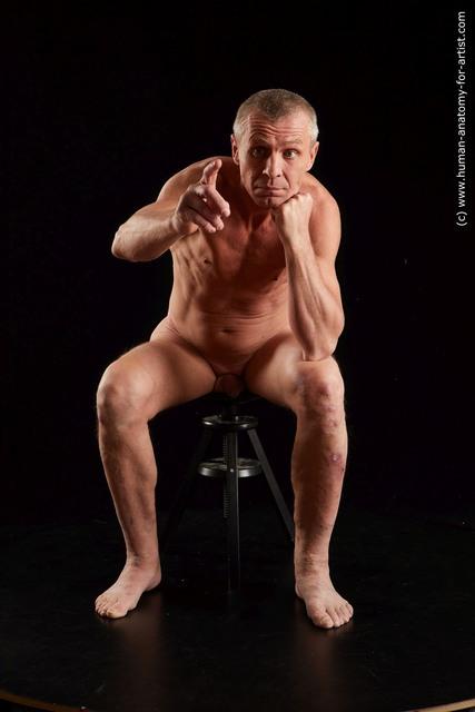 Nude Man White Average Short Grey Standard Photoshoot