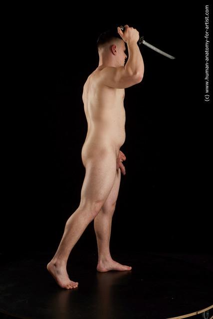 Nude Man White Short Brown Standard Photoshoot Chubby
