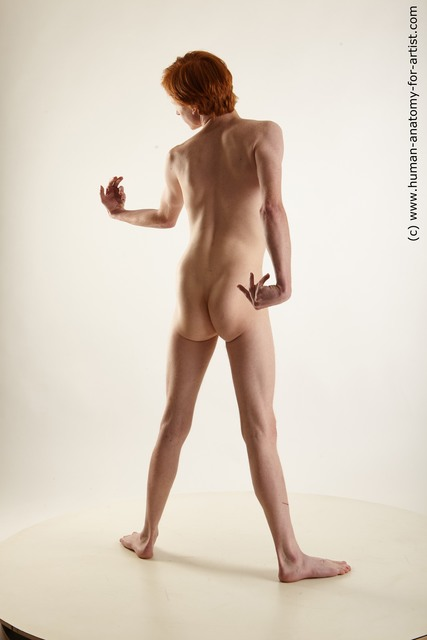 Nude Man White Standing poses - ALL Underweight Medium Red Standing poses - simple Standard Photoshoot