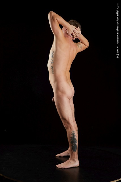 Nude Man White Standing poses - ALL Average Short Brown Standing poses - simple Standard Photoshoot