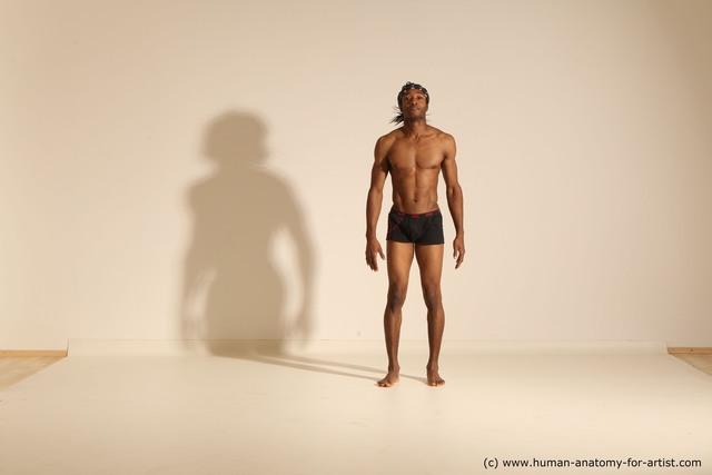Underwear Man Black Athletic Long Black Dancing Dynamic poses