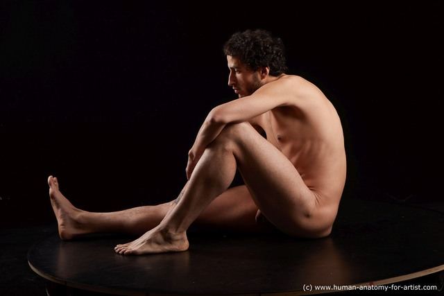Nude Man Another Sitting poses - simple Slim Medium Black Sitting poses - ALL Standard Photoshoot