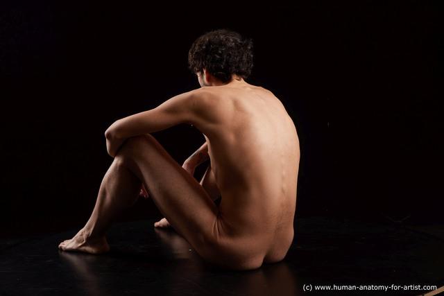 Nude Man Another Sitting poses - simple Slim Medium Black Sitting poses - ALL Standard Photoshoot
