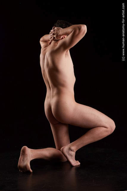 Nude Man Slim Short Black Standard Photoshoot