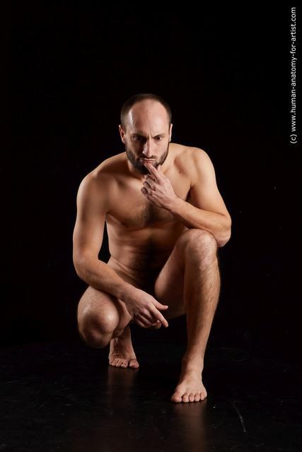 Man White Athletic Short Brown Standard Photoshoot