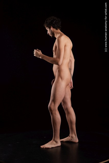 Nude Man Black Standing poses - ALL Slim Medium Black Standing poses - simple Standard Photoshoot