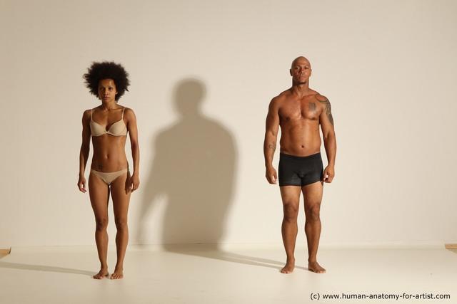 Underwear Woman - Man Black Dancing Dynamic poses