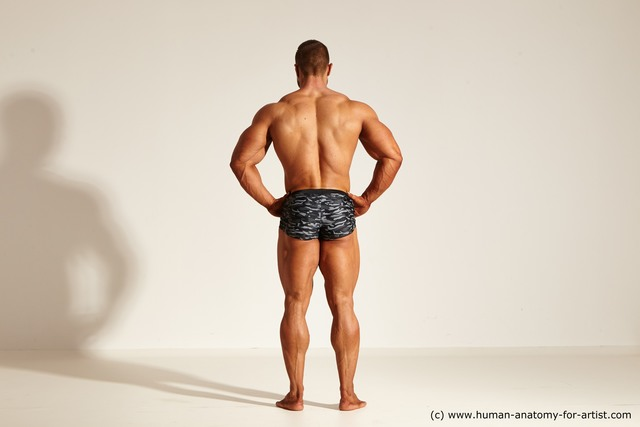 Underwear Man White Dynamic poses