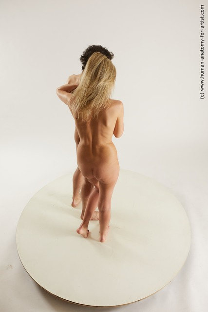 Nude Woman - Man Standing poses - ALL Slim Standing poses - simple Multi angles poses