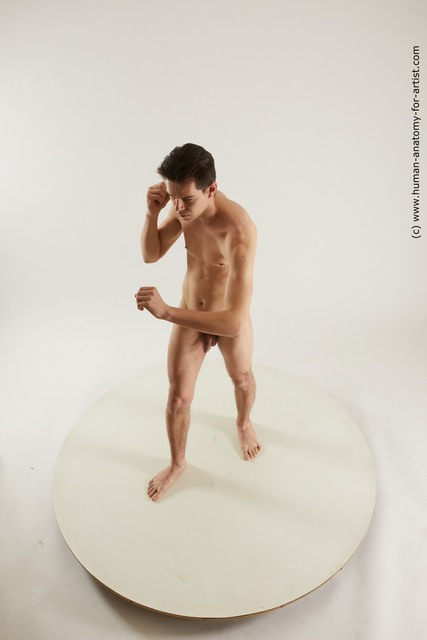 Nude Man White Standing poses - ALL Slim Short Black Standing poses - simple Multi angles poses