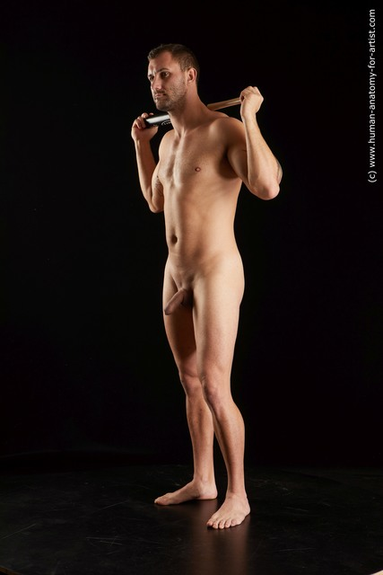 Nude Man White Standing poses - ALL Slim Short Brown Standing poses - simple Standard Photoshoot