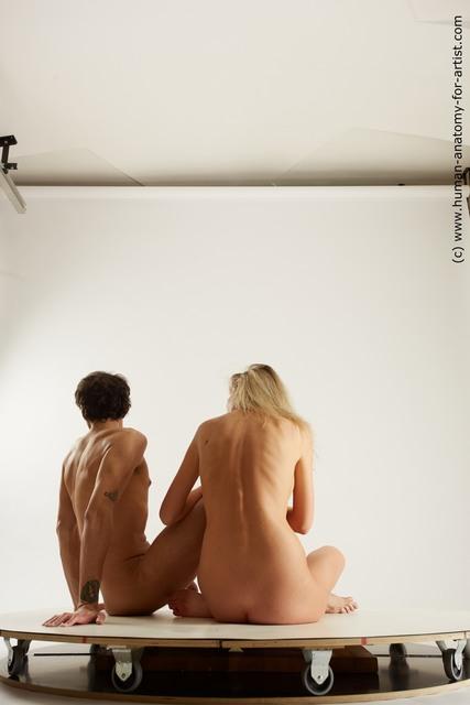 Nude Woman - Man Slim Multi angles poses