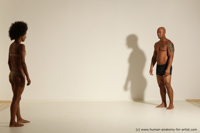 Underwear Woman - Man Black Athletic Black Dancing Dynamic poses