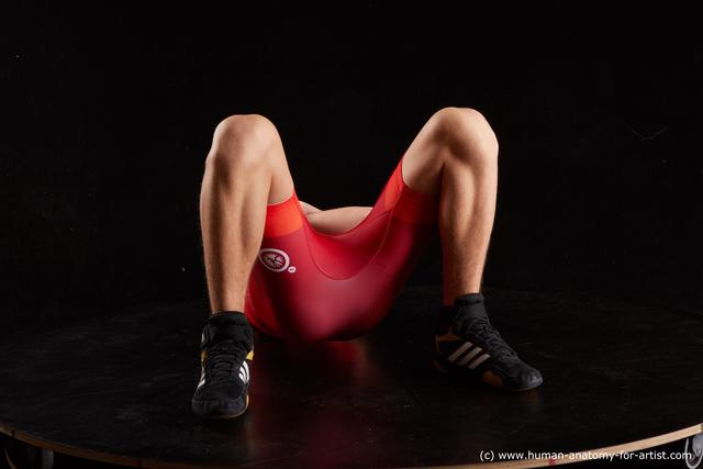Sportswear Man White Athletic Short Brown Standard Photoshoot