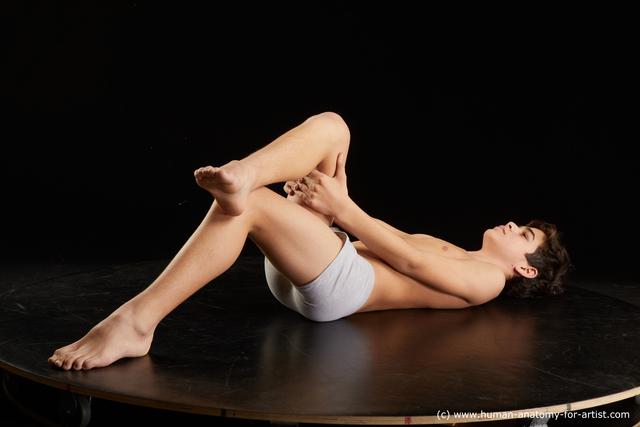 Underwear Man White Laying poses - ALL Average Medium Black Standard Photoshoot