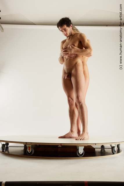 Nude Man White Standing poses - ALL Slim Standing poses - simple Multi angles poses